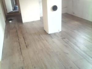 New tiles floor